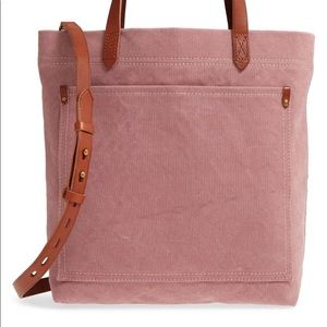 Madewell | Pink Canvas Medium Transport Tote